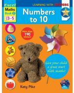 Excel Learning with Stickers: Maths Book 2 Preschool Skills - Numbers to 10 (Ages 3 to 5) [Temporarily out of stock]