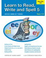 Learn to Read, Write & Spell Book 5 Yrs 1 to 4 (Item no. 181)