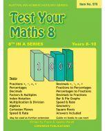 Test Your Maths 8 (Australian Homeschooling no. 570)