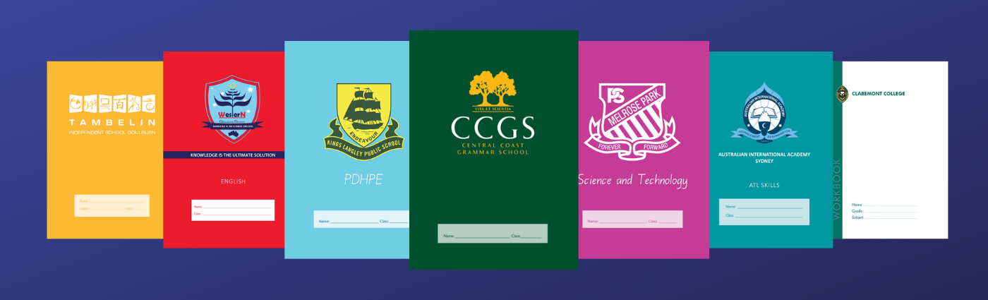 How to customise your own Exercise Books