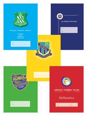 Sample customised school exercise book covers